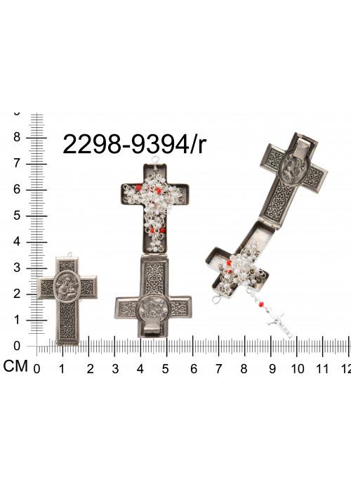 Schránkový kříž s obrázkem a s mini růžencem PU:33100