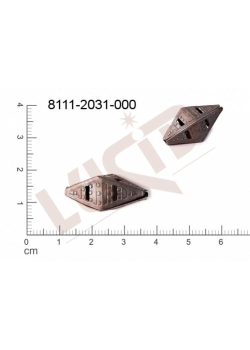 Kostička, kulička, 3D tvar 25.0 x 10.0mm