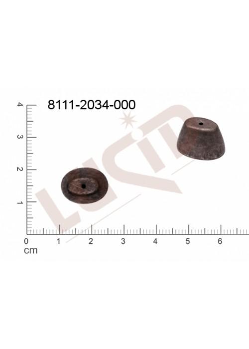 Kaplíky, čepičky 14.0 x 11.0mm