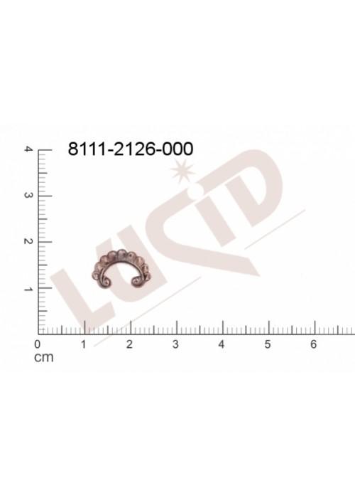 Tvarový výlisek , bez oček (svěšovacích dírek) 12.0 x 9.0mm