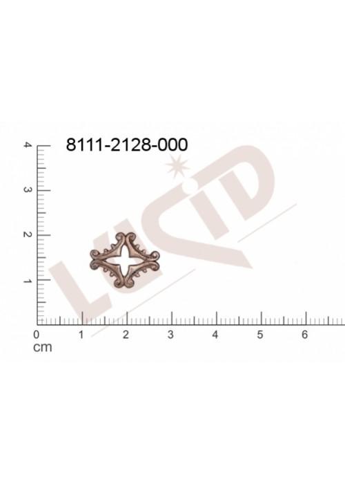 Tvarový výlisek , bez oček (svěšovacích dírek) 15.0 x 13.0mm