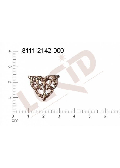 Tvarový výlisek trojúhelník, bez oček (svěšovacích dírek) 20.0 x 15.0mm