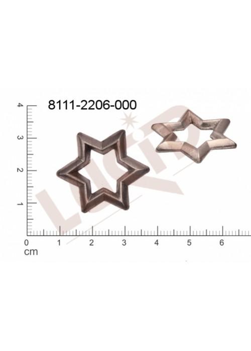 Tvarový výlisek hvězda, bez oček (svěšovacích dírek) 24.0 x2 4.0mm