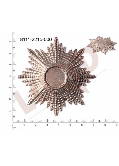 Tvarový výlisek hvězda, bez oček (svěšovacích dírek) 71.0 x 71.0mm