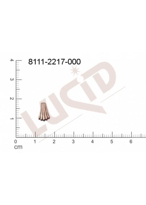 Tvarový výlisek vějíř, bez oček (svěšovacích dírek) 9.0 x 6.0mm