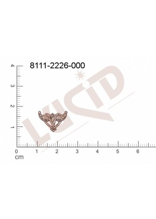 Tvarový výlisek , bez oček (svěšovacích dírek) 14.0 x 10.0mm