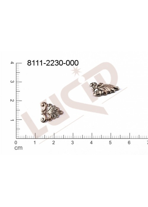Tvarový výlisek trojúhelník, bez oček (svěšovacích dírek) 12.0 x 10.0mm