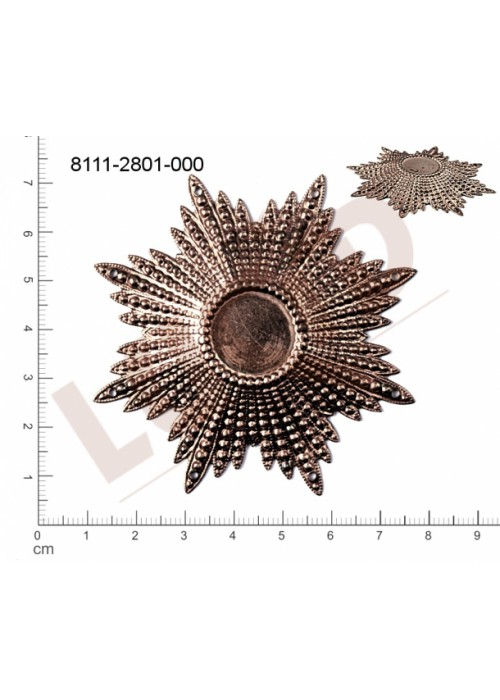 Tvarový výlisek hvězda, s více očky (svěšovacími dírkami) 71.0 x 71.0mm