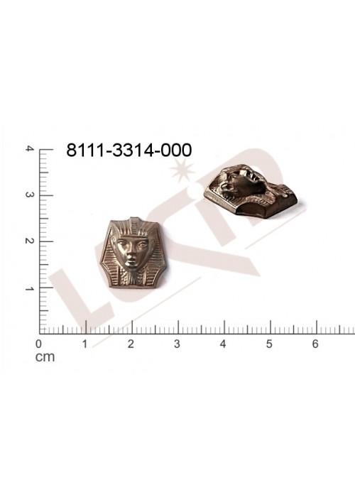 Tvarový výlisek, lidské tělo (hlavy) bez oček (svěšovacích dírek) 15.0 x 14.0mm