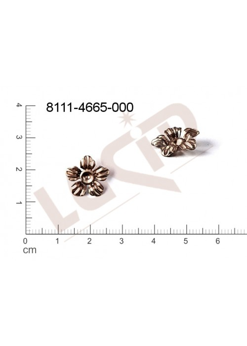 Tvarový výlisek rostlinné motivy kytky, květinové motivy bez oček (svěšovacích dírek) 13.0mm