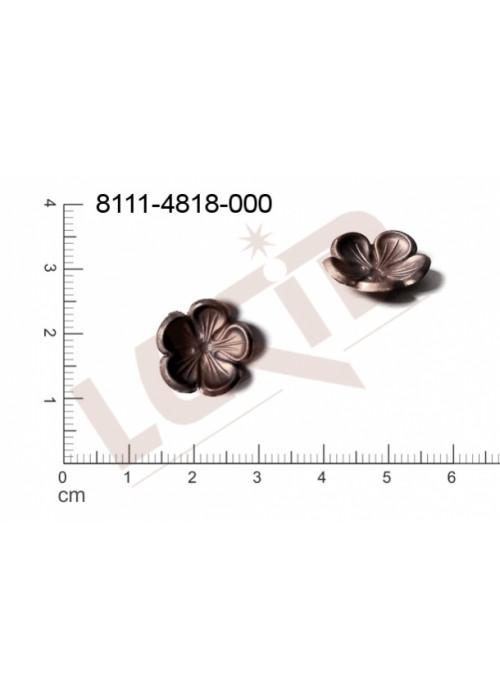 Tvarový výlisek rostlinné motivy kytky, květinové motivy bez oček (svěšovacích dírek) 15.0mm