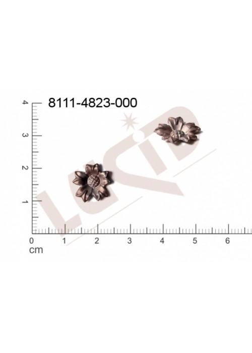 Tvarový výlisek rostlinné motivy kytky, květinové motivy bez oček (svěšovacích dírek) 12.0mm