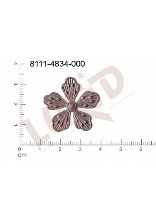 Tvarový výlisek rostlinné motivy kytky, květinové motivy bez oček (svěšovacích dírek) 26.0mm