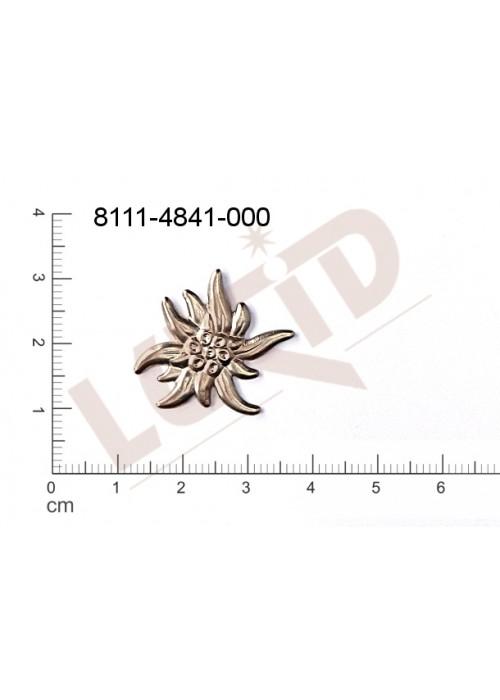 Tvarový výlisek rostlinné motivy kytky, květinové motivy bez oček (svěšovacích dírek) 25.0x20.0mm