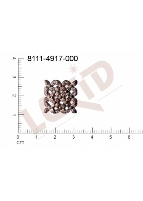Tvarový výlisek čtyřúhelníky kytky, květinové motivy bez oček (svěšovacích dírek) 18.0mm