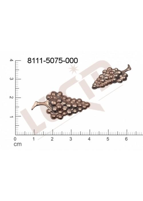 Tvarový výlisek rostlinné motivy ovoce, zelenina bez oček (svěšovacích dírek) 30.0x16.0mm