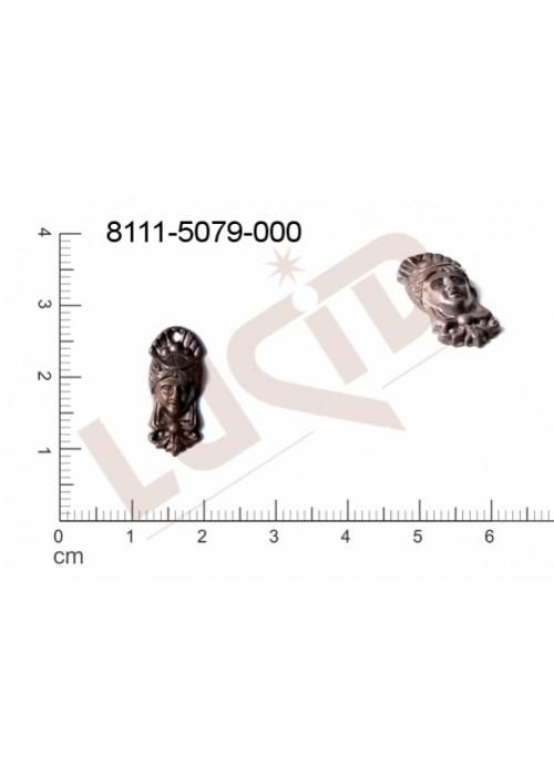 Tvarový výlisek hlavy, lidské tělo s 1 očkem (svěšovací dírkou) 18.0x7.0mm