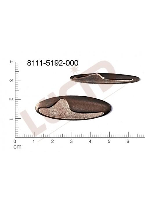Tvarový výlisek oválné bez oček (svěšovacích dírek) 41.0x14.0mm