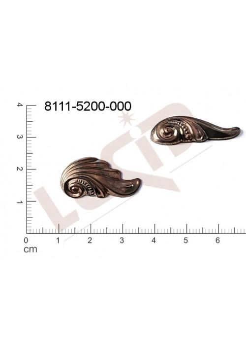 Tvarový výlisek mušle a mořské motivy bez oček (svěšovacích dírek) 25.0x13.0mm