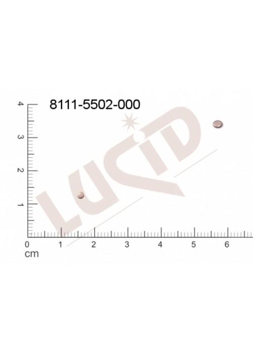 Plochý výsek kulatý bez oček (svěšovacích dírek) 2.0mm