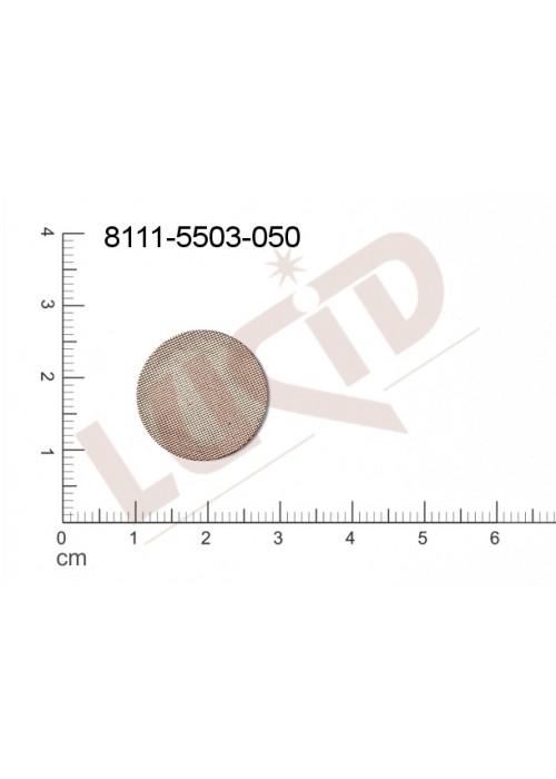 Plochý výsek kulatý bez oček (svěšovacích dírek) 18.0mm