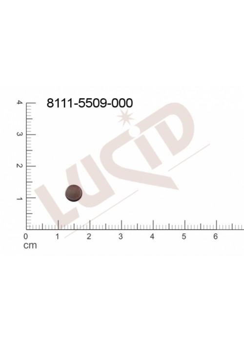 Plochý výsek kulatý bez oček (svěšovacích dírek) 5.0mm