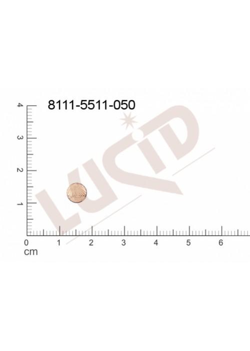 Plochý výsek kulatý bez oček (svěšovacích dírek) 6.0mm