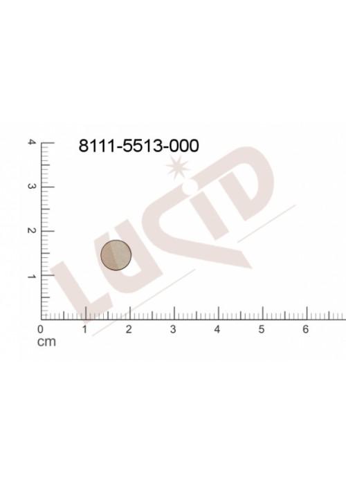 Plochý výsek kulatý bez oček (svěšovacích dírek) 7.0mm