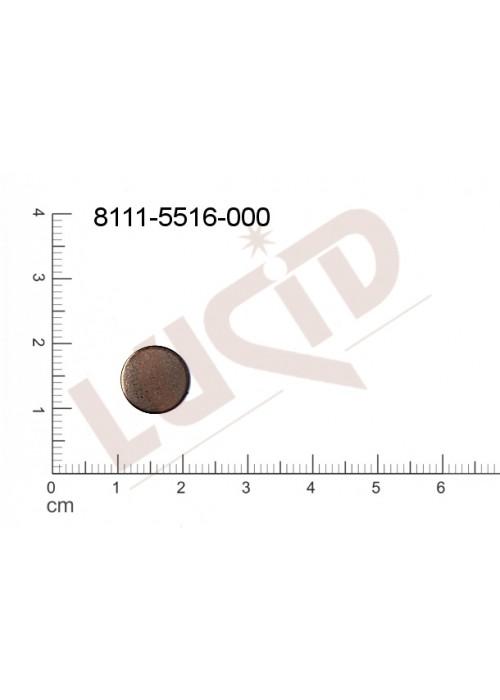 Plochý výsek kulatý bez oček (svěšovacích dírek) 10.0mm