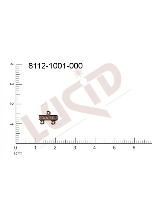 ramínko s 2-ma očky 10.0x7.0mm