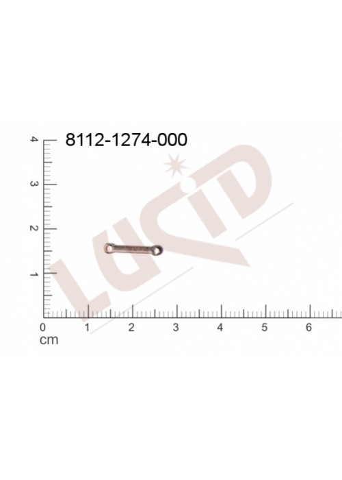 Svěšovací díl/tyčinka s 2-ma očky 13.0x2.0mm