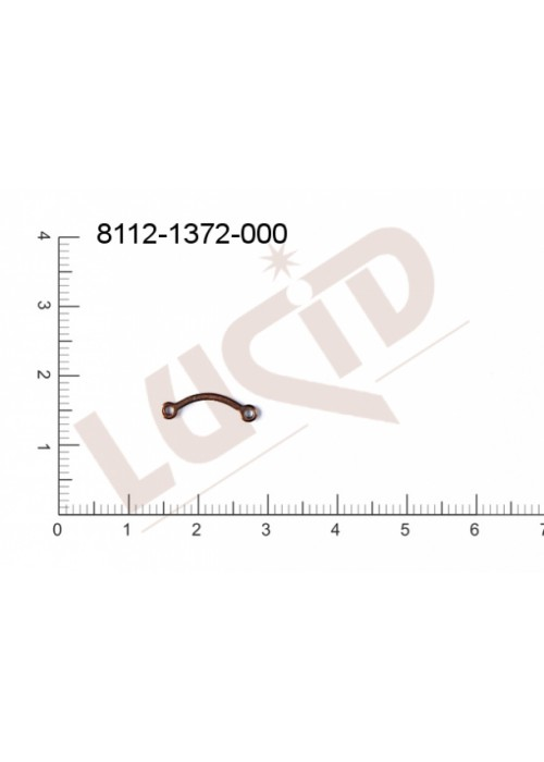 Svěšovací díl/tyčinka s 2-ma očky 15.0x3.0mm