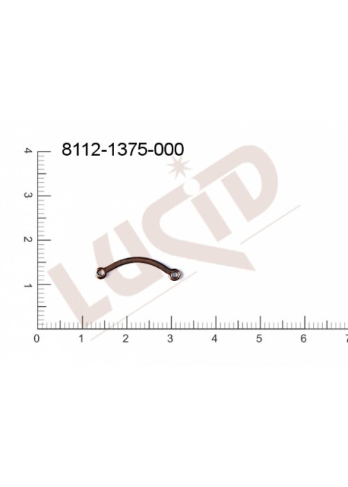 Svěšovací díl/tyčinka s 2-ma očky 20.0x6.0mm