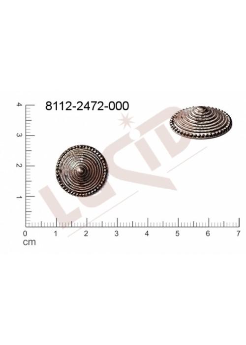 Tvarový výlisek kulatý bez oček (svěšovacích dírek) 17.0mm
