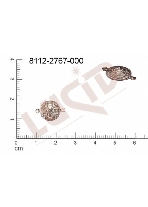Tvarový výlisek kulatý s 2-ma očky (svěšovacími dírkami) 16.0x10.0mm