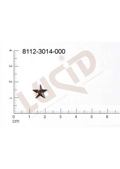 Tvarový výlisek hvězda bez oček (svěšovacích dírek) 9.0mm