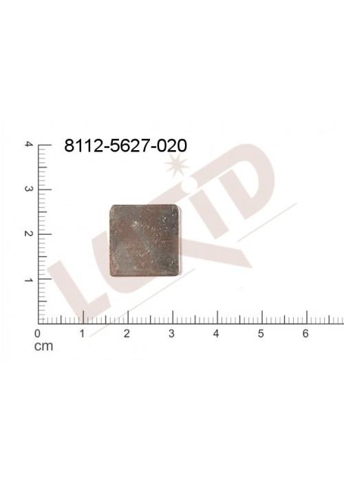Plochý výsek čtyřúhelníky bez oček (svěšovacích dírek) 16.0x16.0mm, bez dírky