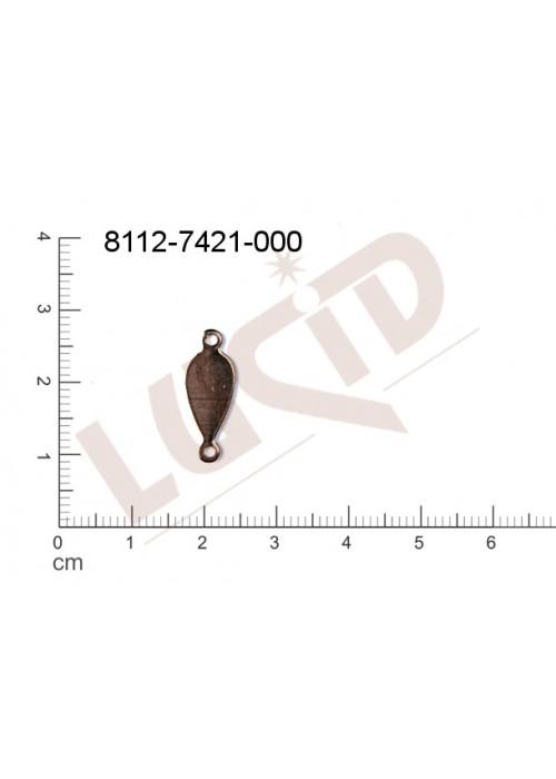 Svěšovací díl/tyčinka s 2-ma očky 19.0x7.0mm