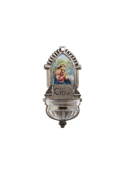 Kropenka Klasicismus s vloženým štítkem - kříž - stříbrná