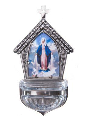 Kropenka Jesle s křížem - stříbrná